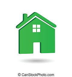Home Icon, Vector Illustration