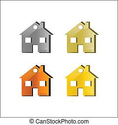 Home icon. Vector