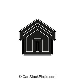 home icon, vector real estate house, residential symbol
