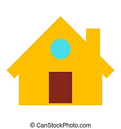 home icon, vector real estate house, residential symbol.