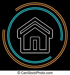 home icon, vector real estate house