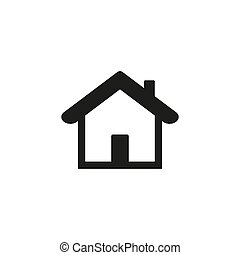Home Icon vector. Simple flat symbol. Perfect Black ...