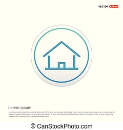 Home icon - white circle button