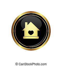 Home icon with heart icon