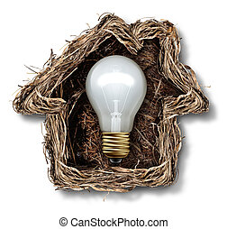 Home Ideas - Home ideas and house solution symbol as a bird...