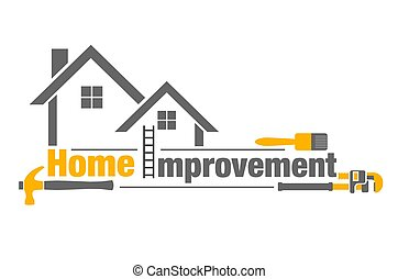 Home Improvement - An illustration of home improvement icon ...