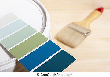 home improvement - conceptual photo with paint and brush, ...