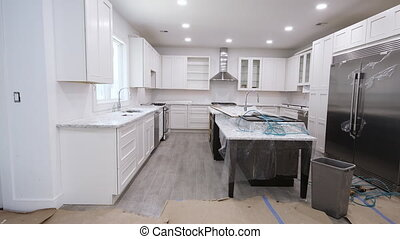 Kitchen remodel home improvement view installed in a new kitchen
