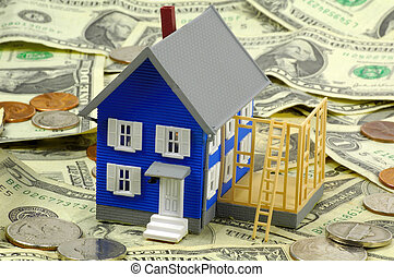 Home Improvement Loa - Miniature House On Cash. See...