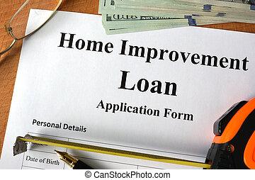Home improvement loan form