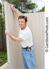 Home Improvement - Putting Up Wall