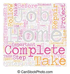 Home Improvement Rules to Follow text background wordcloud concept