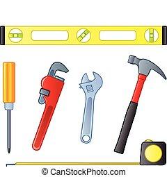 Home Improvement Tools - Six common home improvement or...