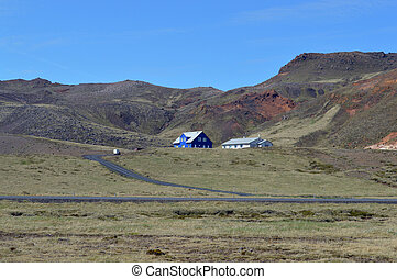 Home in the hills - Photo of a single house and barn with a...