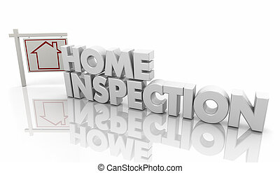 Home Inspection House Inspector Evaluation 3d Illustration