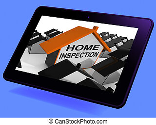 Home Inspection House Tablet Meaning Review And Scrutinize Property