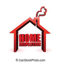 home inspection illustration design graphic