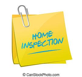 home inspection memo post illustration design