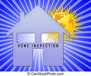 Home Inspection Report Icon Shows Property Condition Audit...
