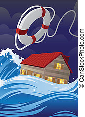 Home insurance - A vector illustration of home insurance...