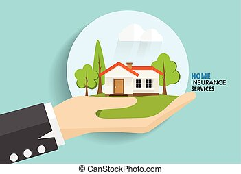 Home insurance business service. Vector illustration concept...