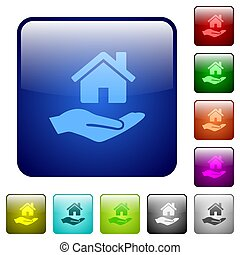 Home insurance color square buttons