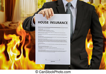 home insurance policy with fire
