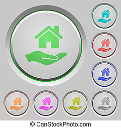 Home insurance push buttons