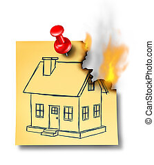 Home Insurance - Home insurance concept with a generic house...
