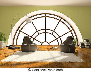 Home interior 3D rendering