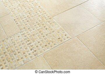 Home interior floor tiles