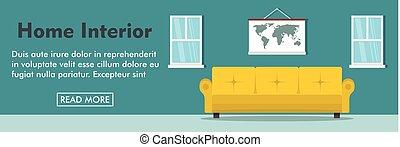 Home interior horizontal banner