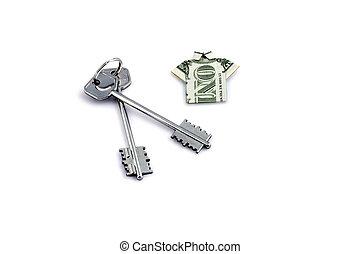 home keys & dollar
