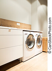 Home laundry - Picture of home laundry with two washing...