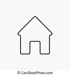 Home. Line Icon Vector. Sign isolated on white background. Flat design style