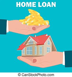 home loan, mortgage, flat design