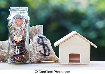 Home loan, mortgages, property investment, savings money concept.