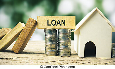 Home loan or property insurance protection concept.