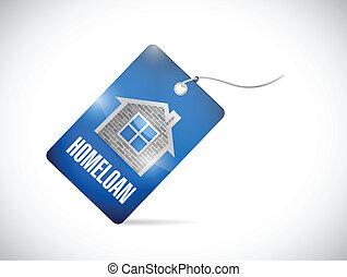 home loan tag illustration design