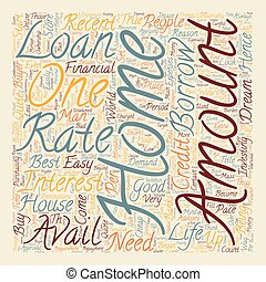 Home Loan text background wordcloud concept