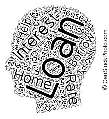 Home Loans Right approach to become a homeowner text background wordcloud concept