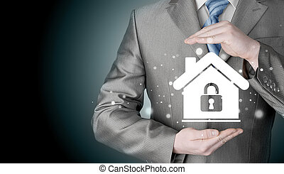 home lock concept.