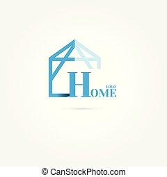 home logo. design modern. vector illustration. on white background