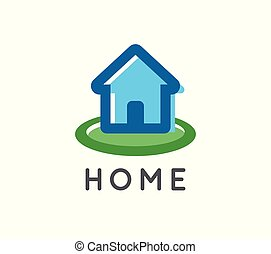 Home logo for a real estate and home repair company - Vector...