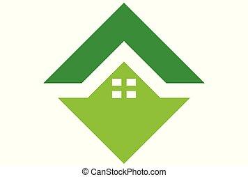 home logo green vector