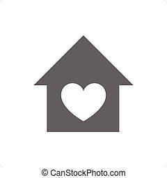 Home love icon