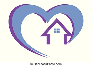 home love logo vector