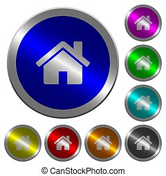 Home luminous coin-like round color buttons