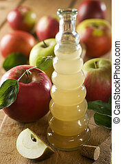 vinegar - home made apple vinegar close up shoot