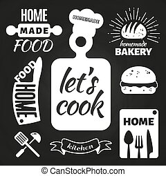 Home made bakery and home cooking badges